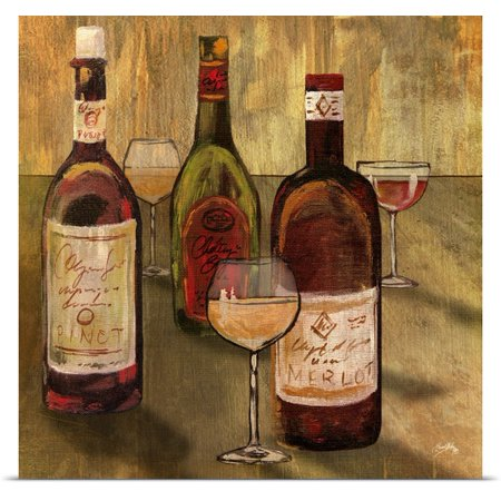 Great Big Canvas Elizabeth Medley Poster Print Entitled Bottle Of Wine I