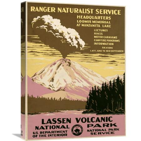Global Gallery Ranger Naturalist Service Lassen Volcanic National Park  Ca  1938 Canvas Wall Art