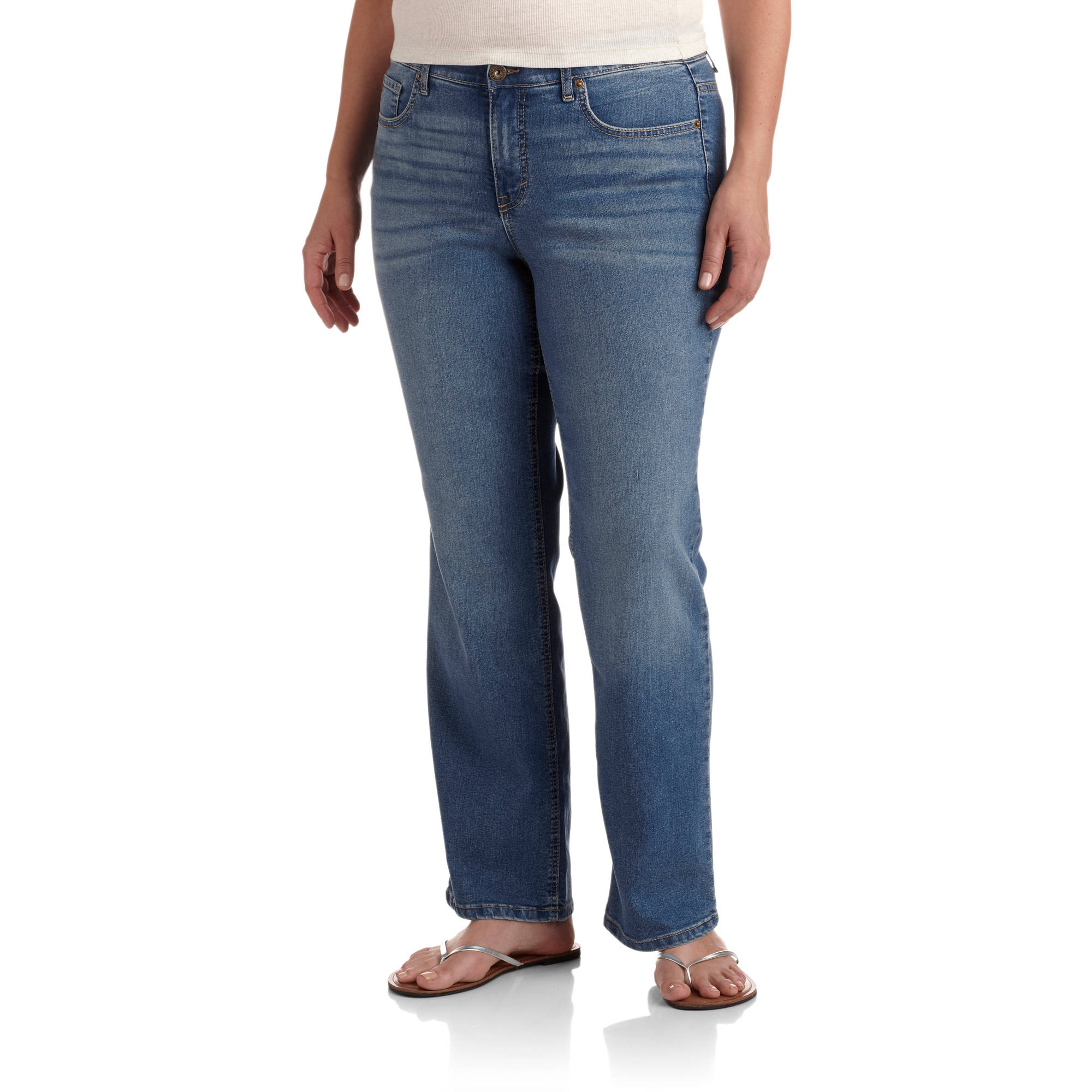 Faded glory mid rise bootcut jeans
