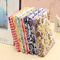 """7Pcs 10"""" Thin and soft Plaid Floral Patch Cotton Fabrics by the Yard,Suitable for handmade DIY small cloth bags, cloth handkerchief, crafting, arts & crafts"""