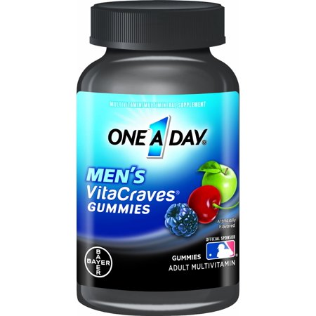 2 Paquet One A Day VitaCraves hommes Multivitaminiques gélifiés, 70 count (W8972)