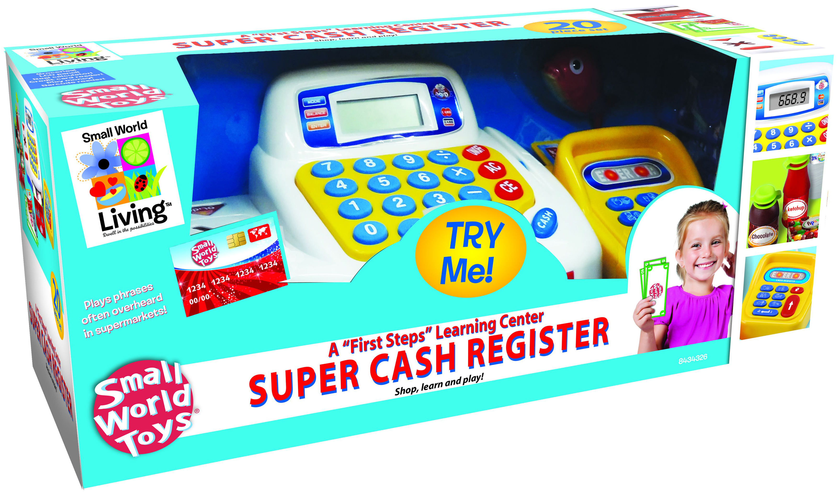 Small World Toys Talking Cash Register Toy-Super Cash Register by Small World Toys