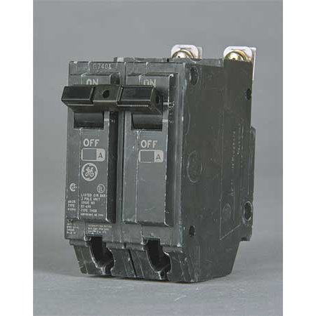 GENERAL ELECTRIC Bolt On Circuit Breaker,80A,2 Pole,THQB THQB2180