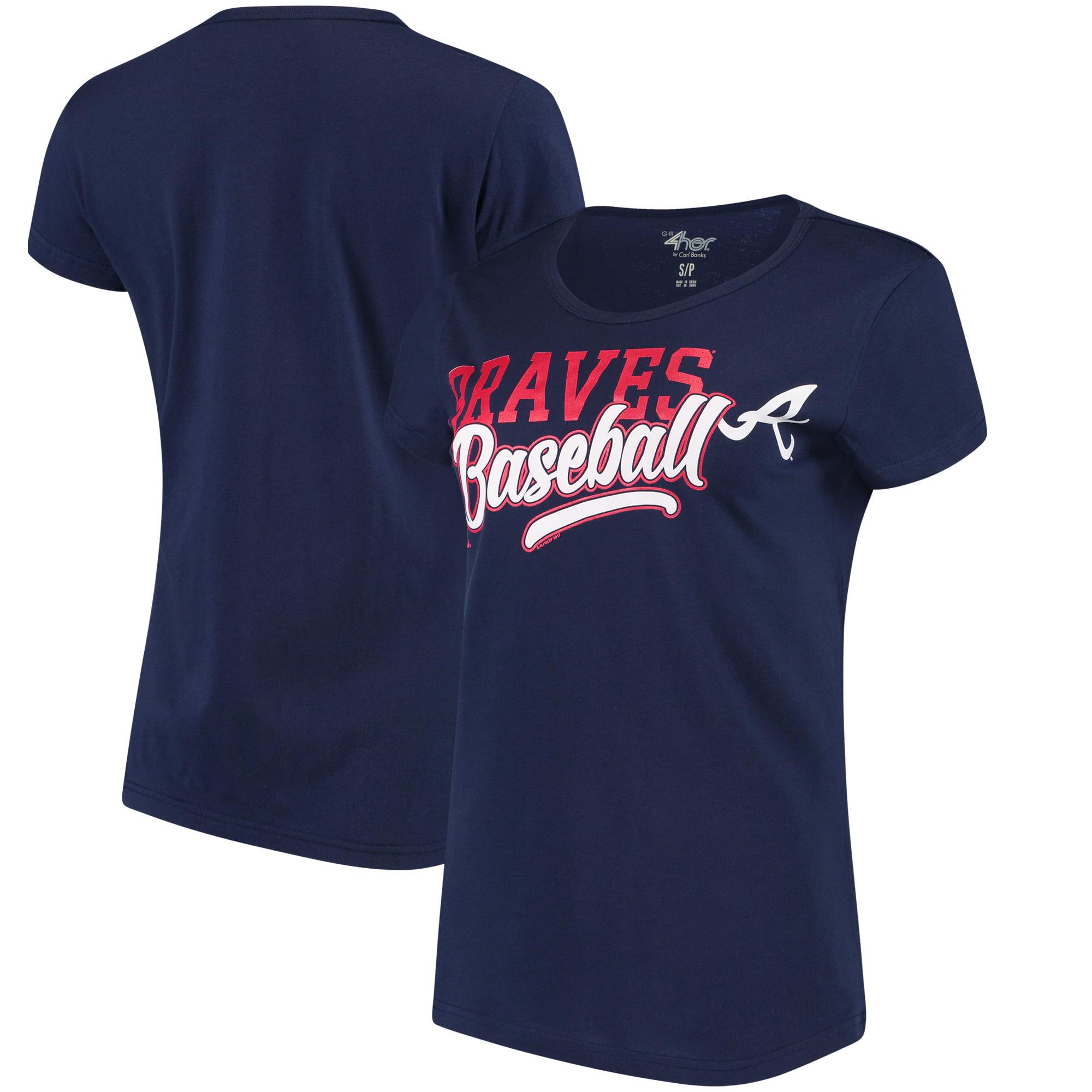 Atlanta Braves G-III 4Her by Carl Banks Women's Endzone Fashion T-Shirt - Navy