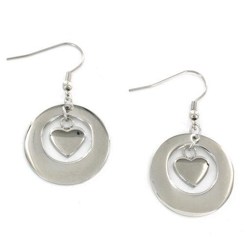West Coast Jewelry Heart Inside Drop Earrings