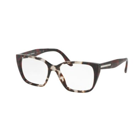 PRADA Eyeglasses PR08TV U6K1O1 Spotted Op Brown/Spotted Red (Red Prada Eyeglasses)