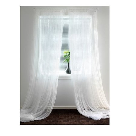 Lill Sheer Curtains 2 Panels 98 X 110 White New By IKEA Ship from US