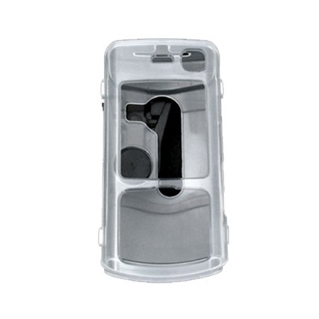Clear Crystal Cover Hard Case w Belt Clip for Nokia (Nokia N70 Music Edition)