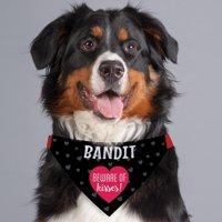 Beware Of Kisses Personalized Dog Bandana Collar Cover