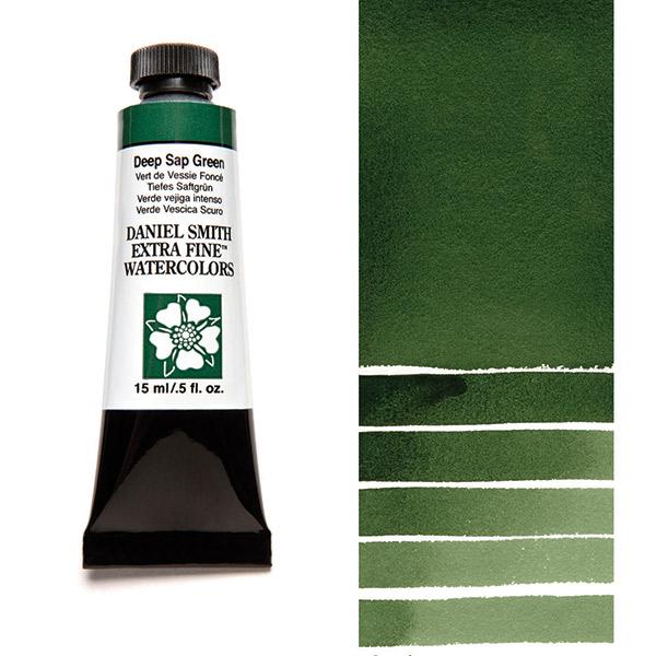 Daniel Smith Extra Fine Watercolors - Deep Sap Green, 15 ml Tube