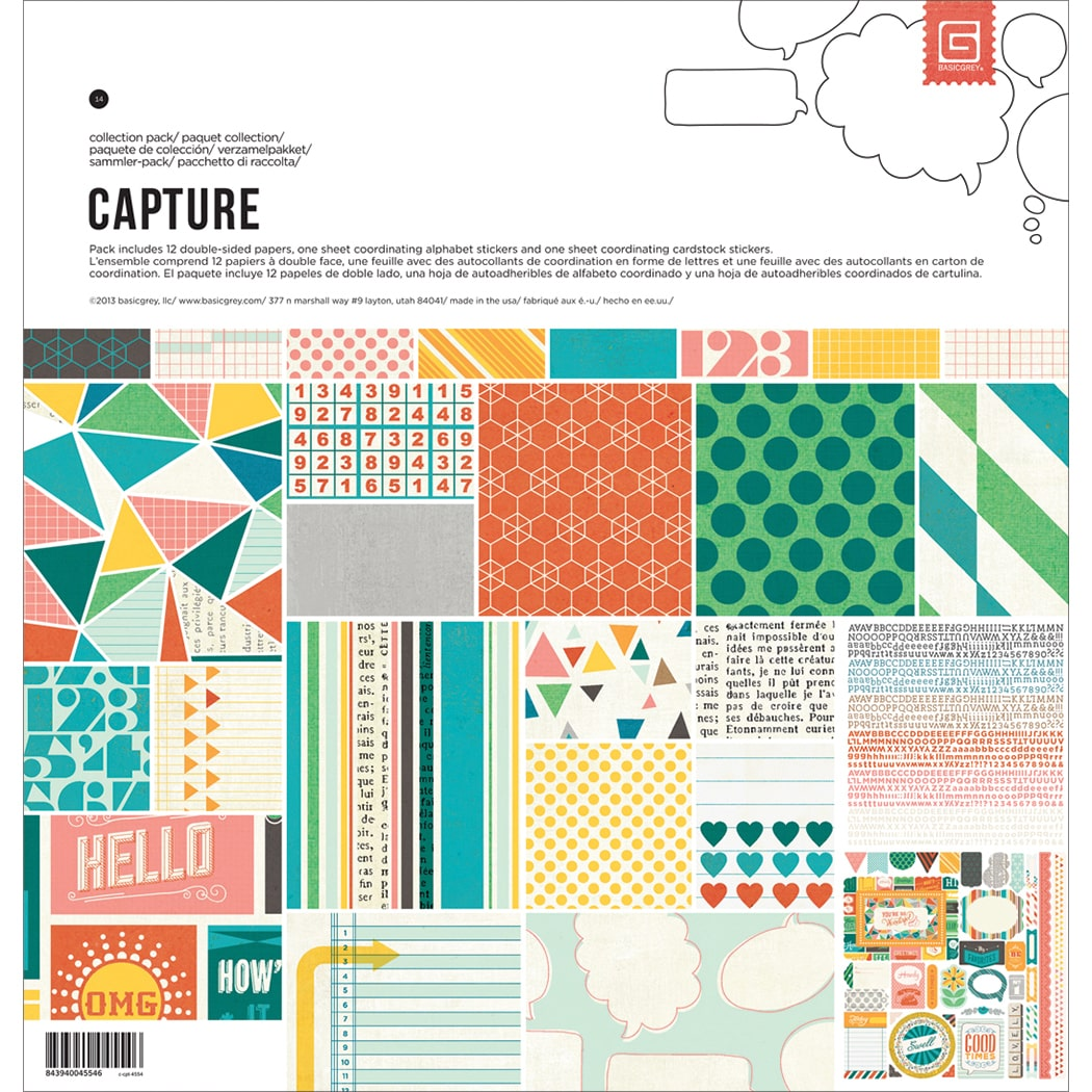 Basic Grey Capture Collection Pack 12inX12in