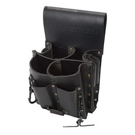 Greenlee Tool Boxes (Greenlee 0258-11 8-Pocket Leather Tool Pouch, 0258-11)