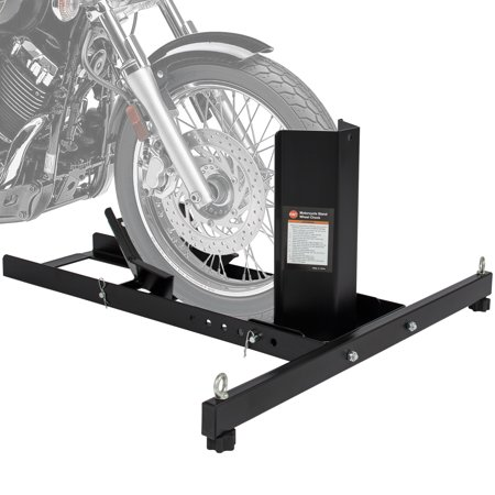 Best Choice Products Adjustable Motorcycle Stand Wheel Chock Upright w/ 1800lb Capacity -