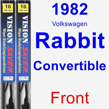 1981 Volkswagen Rabbit Convertible (1982 Volkswagen Rabbit Convertible Wiper Blade Set/Kit (Front) (2 Blades) - Vision Saver )