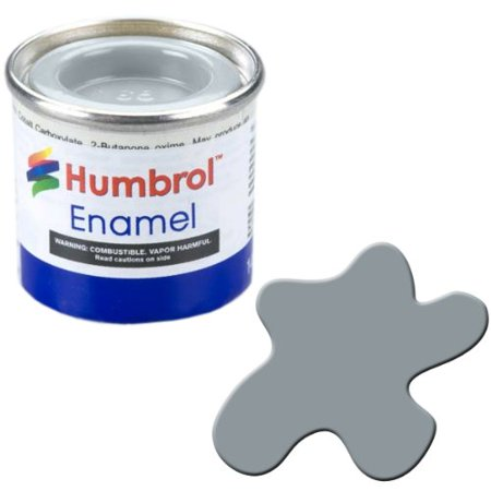 Grey Satin Enamel - Humbrol Model Enamel Paint No.167 Satin RAF Barley Grey, AA1818 By AB Gee