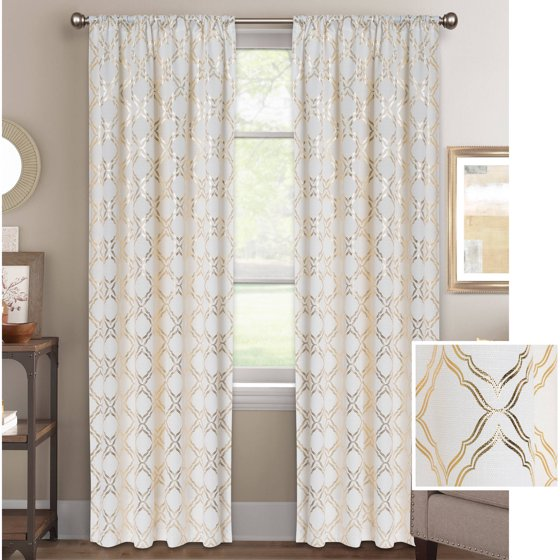 Better homes and gardens metallic trellis gold or silver Better homes and gardens curtains