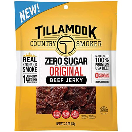 - Tillamook Country Smoker Zero Sugar Original Beef Jerky