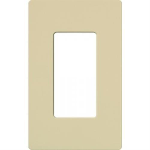 Lutron CW-1-IV Electrical Wall Plate, Claro Decorator Screwless, 1-Gang - Ivory
