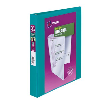 avery 1 durable clear cover binder teal walmart com