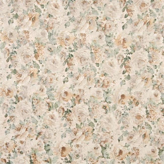 Designer Fabrics F831 54 in. Wide Green And Gold, Floral Garden Jacquard Woven Upholstery Fabric