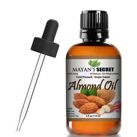 Unrefined Sweet Almond Oil |100% Pure | Cold Pressed | Hexane Free | Natural Moisturizer |Great For Hair, Skin & Nails | Carrier Oil | Great To Dilute Essential Oils Mayan's (Castor Oil And Almond Oil For Face)