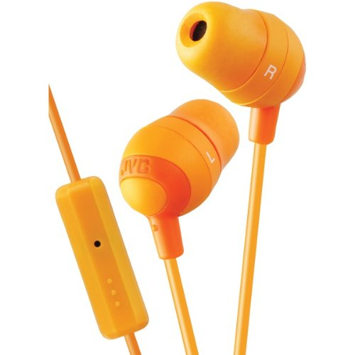 Jvc Hafr37d Marshmallow Inner Ear With Microphone & Remote [orange]
