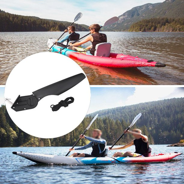 OTVIAP Direction Control Rudder,New Black Plastic Watercraft Canoe Kayak Angling Boat Rudder Foot Direction Control Tackle Kits,Boat Rudder