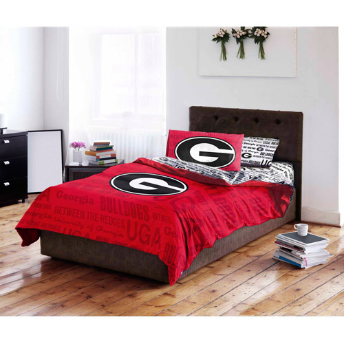NCAA University of Georgia Bulldogs Bed in a Bag Complete Bedding Set