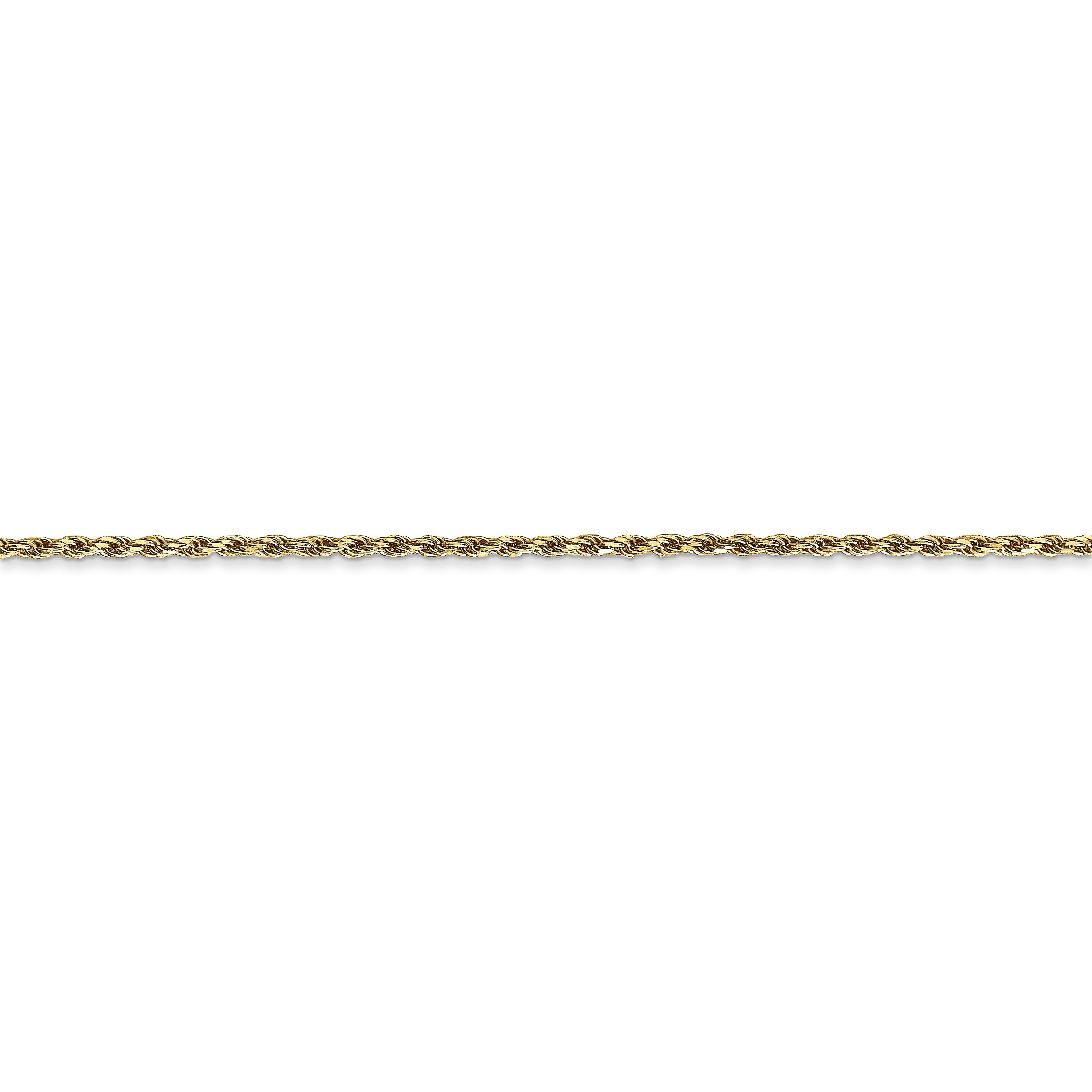 14k Yellow Gold 1.3mm Solid Lobster Link Rope Chain Necklace 24 Inch Pendant Charm Machine Made Fine Jewelry Gifts For Women For Her - image 1 of 5