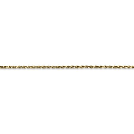 14k Yellow Gold 1.3mm Solid Lobster Link Rope Chain Necklace 30 Inch Pendant Charm Machine Made Fine Jewelry For Women Valentines Day Gifts For Her - image 1 de 9