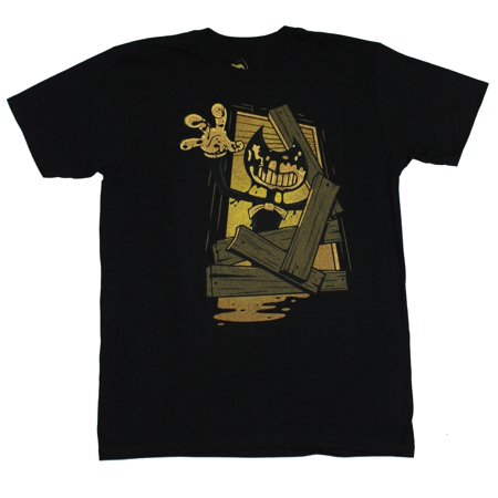 Bendy And the Ink Machine Mens T-Shirt - Scary Bendy Breaking Thru