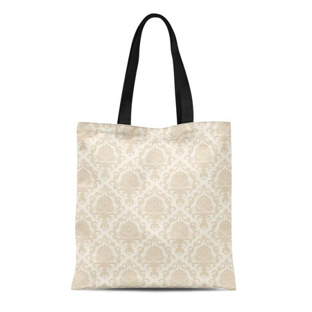 HATIART Canvas Tote Bag Damask Classical Luxury Old Fashioned Royal Victorian for Exquisite Durable Reusable Shopping Shoulder Grocery Bag - image 1 of 1