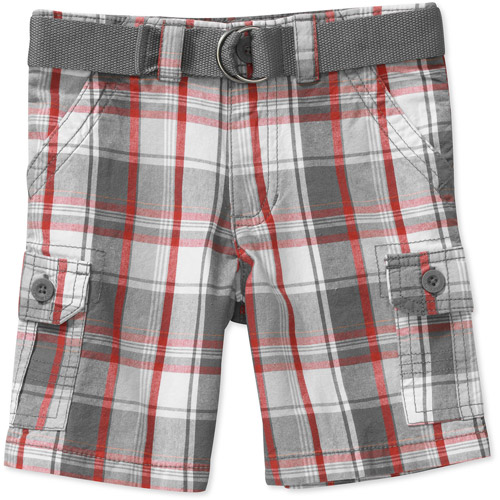 Healthtex Baby Boys' Belted Plaid Woven Short