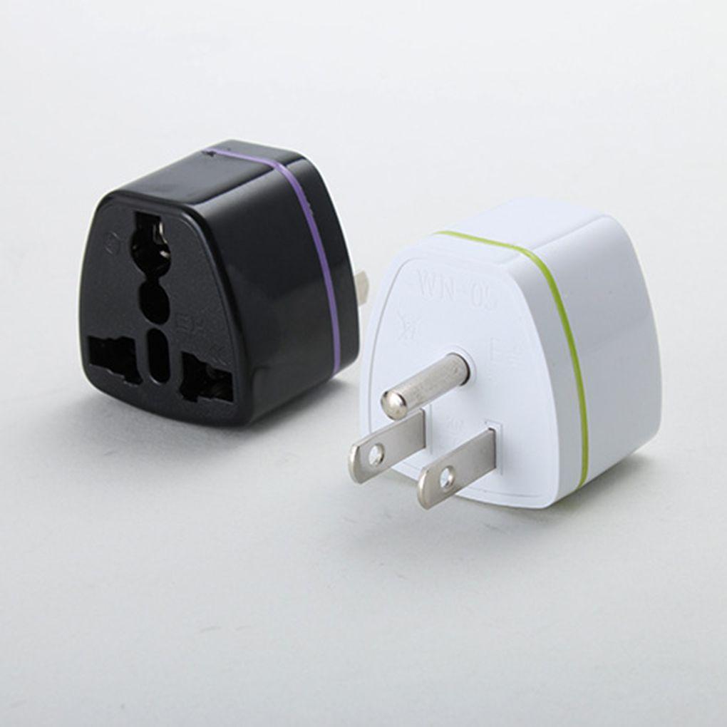 EU//UK//AU Universal Adapter to USA CANADA AC Power Plug 3 Pin Travel ConverterUN