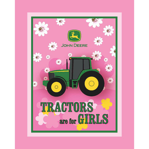 Springs Creative John Deere Tractors Are For Girls Fleece Fabric