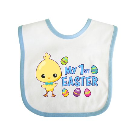 My 1st Easter with Chick and Easter Eggs Baby Bib