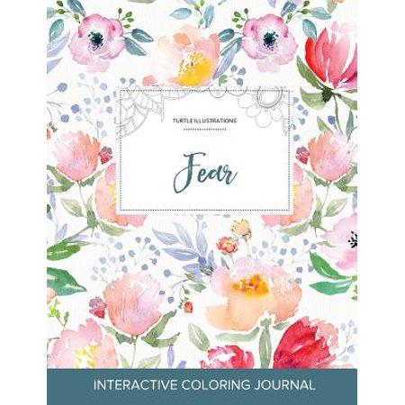 Adult Coloring Journal : Fear (Turtle Illustrations, La Fleur) - Mr Turtle