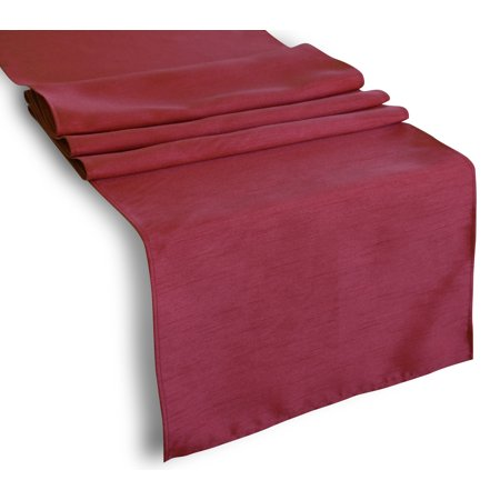 Aiking Home Pack Of 6 Solid Faux Silk Table Runner Burgundy Size 13 X72 Ideal For Wedding Baby Shower Party Decor Thanksgiving Christmas Or