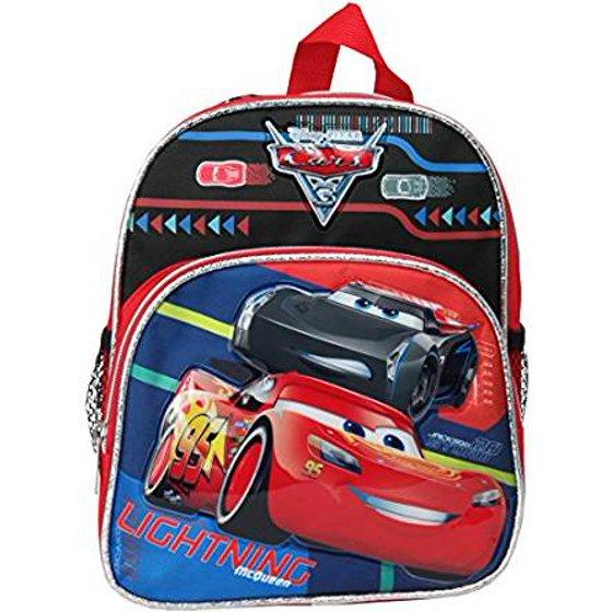 3707a5608cc Disney - Mini Backpack - - Cars 3 - Lighting McQueen 10 School Bag 106119 -  Walmart.com