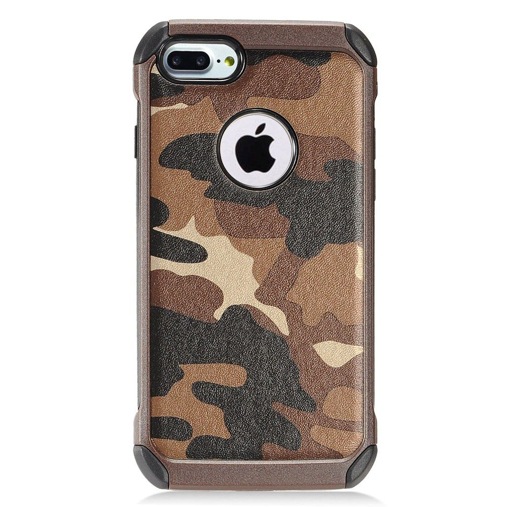 EagleCell Camouflage Hard Dual Layer TPU Case For Apple iPhone 7 - Brown/Black