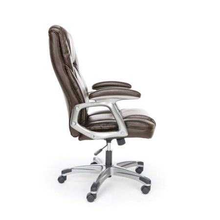 Scranton & Co Ergonomic High Back Leather Office Chair in Brown - image 3 of 5
