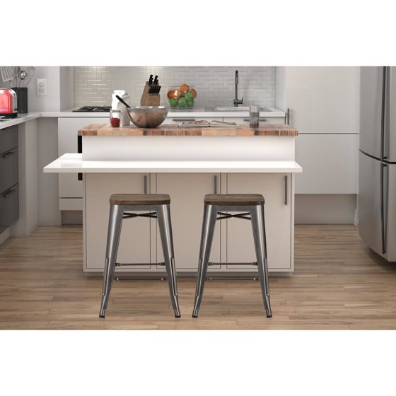 Dorel home products fusion quot metal backless counter