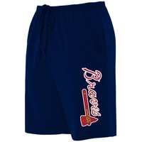 Atlanta Braves Majestic Women's Plus Size Jersey Long Shorts - Navy