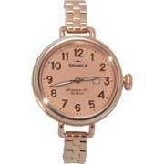 SHINOLA The Birdy Rose Gold Dial Rose Gold Stainless Steel Ladies Watch S0200009