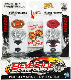 Beyblade Metal Masters Poison Fury Showdown 2-Pack