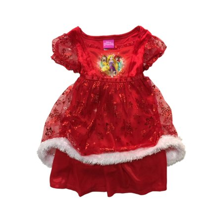 Infant & Toddler Girls Silky Red Disney Princess Nightgown Holiday Gown - Princess Gowns For Toddlers