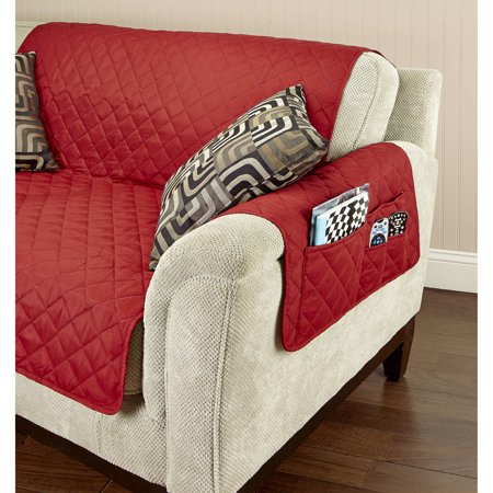 Home details double sided chair furniture protector for Furniture covers with pockets