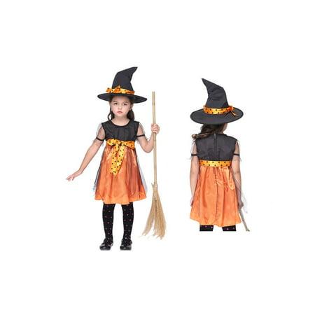 Halloween Costume Ideas For 2 Best Friends (Pumpkin Witch Girls 2 Piece Halloween)
