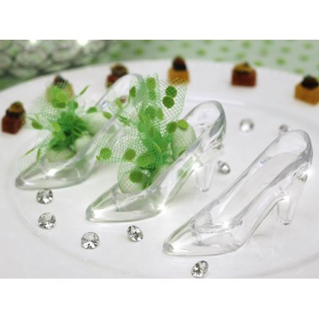 BalsaCircle Clear 12 Clear Cinderella Slippers - Wedding Party Accessories Decorations Candy Supplies - Party Wedding Decorations