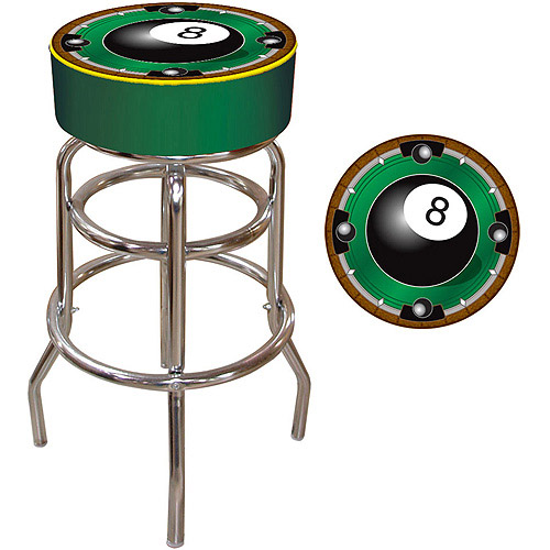 """Trademark Global Rack 'Em 8-Ball 30"""" Padded Bar Stool"""
